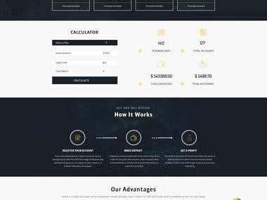 Hyip Invest website design