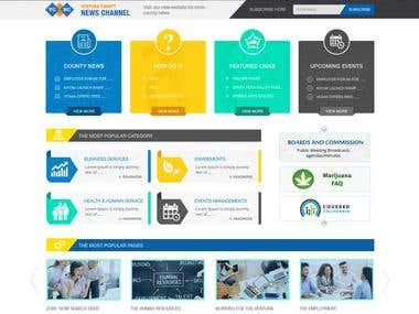 Public service and support website Design.