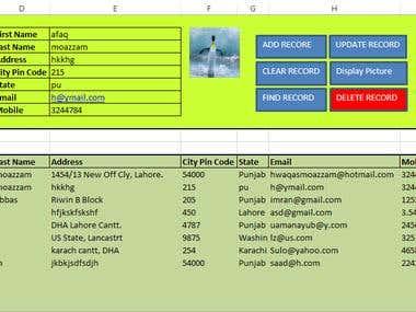 Database of Users in Excel using VBS Macro