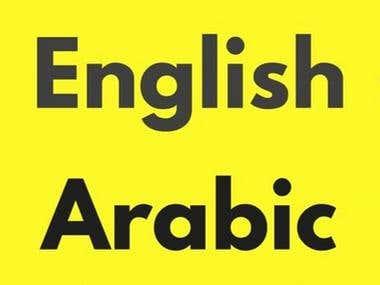 Translation (Arabic to English and vice versa)