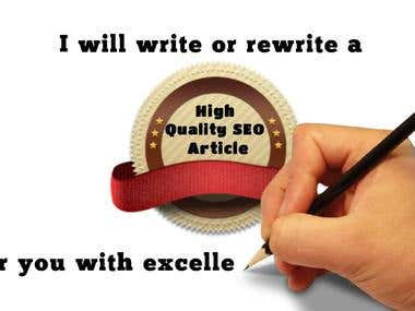 Writing & Rewriting Services