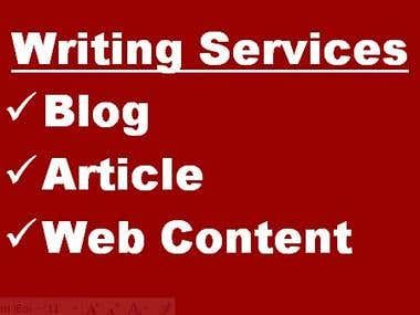 Blog / Article / Web Content Writing Services