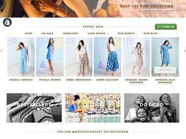 Maisha Concept Shopify Store