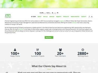 company website on wordpress