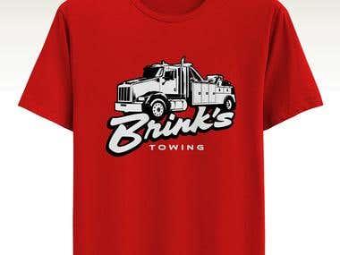 Brinks Towing Logo design