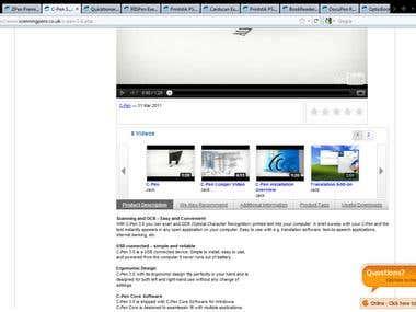 Managing website