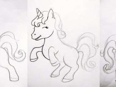 Unicorn Sticker Design Project