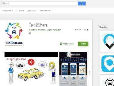 Taxi2Share (Android App)