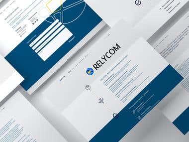 Relycom Company Web Design