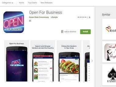 Open For Business(Android App)