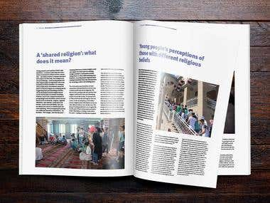 Brochure for NGO Saferworld