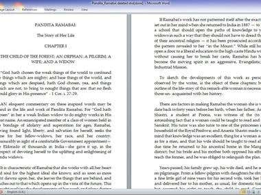 PDF DOCUMENTS RE-TYPED TO WORD