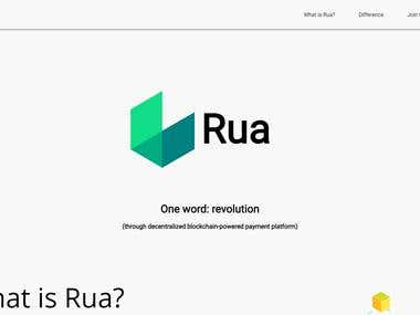 RuaCoin Landing Page