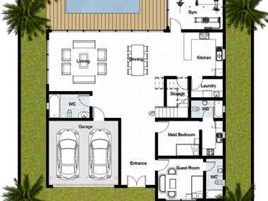 Architectural floorplan design