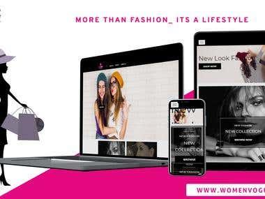 Women Vogue Fashion Website