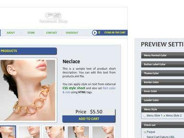 Facebook Fanpage Shop