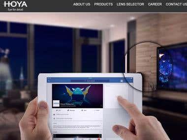 Online Lens Simulation responsive web site