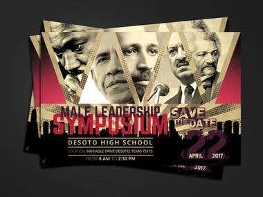 Male Leadership Postcard