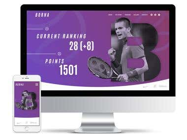 Website for tennis player