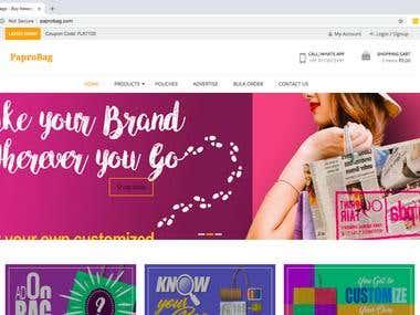 Paprobag.com E-Commerce Application in Wordpress WooCommerce