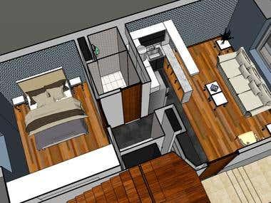 Example of designs made in Sketchup