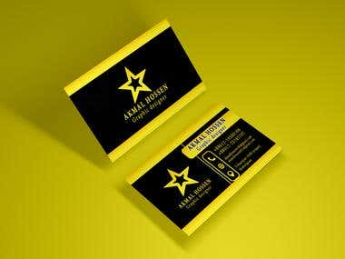 golden colour business card