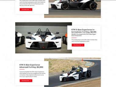 Racing Track Website Design