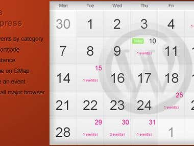 Calendar - Wordpress Plugin