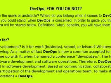 DevOps Software Writing