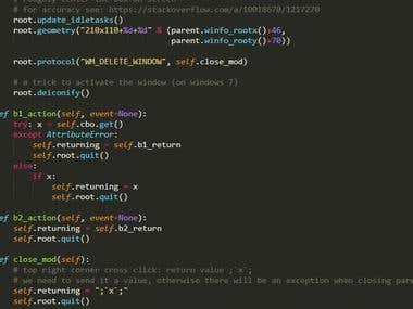 Python GUI Project