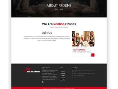 Redline Fitness Website