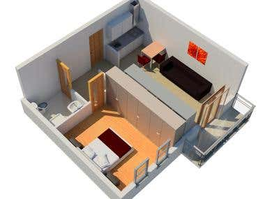 3D Floor Plan Visualisation.