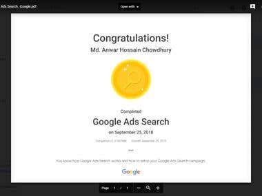 Google and Bing Certified Ads Professional