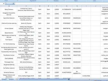Data Processing, Web Scrapping, Data Entry