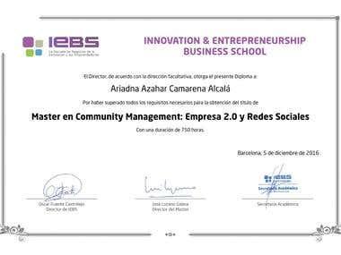 Master Community Management