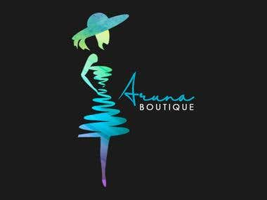 Aruna Boutique Logo Design...