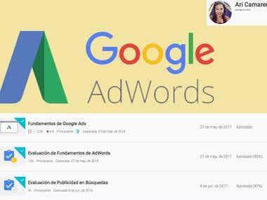 Certificaciones Google Adwords