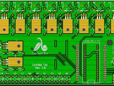 Arduino Micro Pro based 10 Channel motor driver circuit