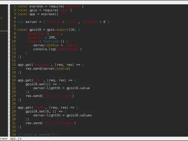 API + Server RaspberryPi Light's Automation