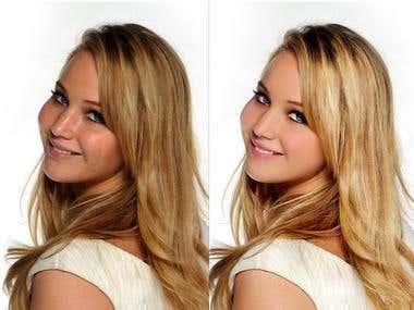 Photo retouching and Hair masking.