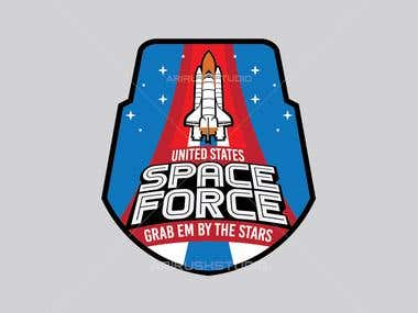 TRUMP/ SPACE FORCE logo