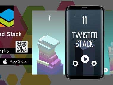 Twisted Stack - 3D Arcade