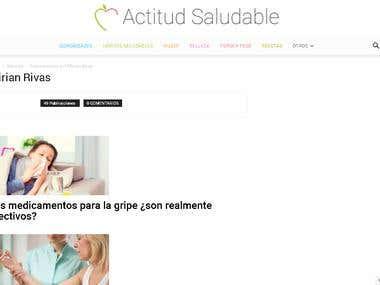 Redacción de artículos en Actitud Saludable