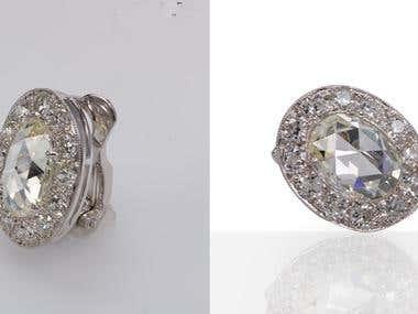 Jewellery editing & mirror effect