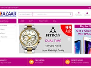 Website for DXB Bazaar