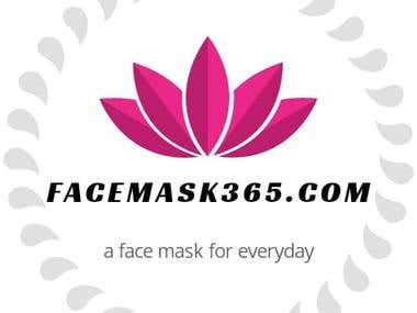 A logo for a natural face masks website