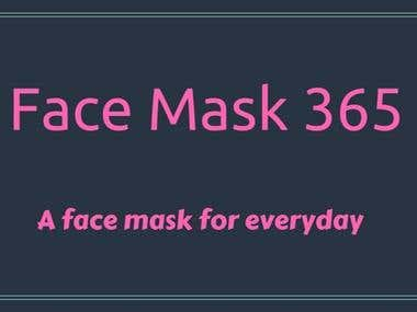 A Facebook cover for a natural face masks page