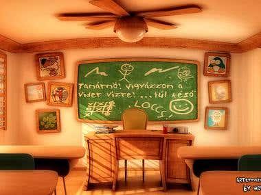 Toony classroom