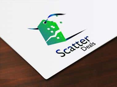 "Logo and banner for ""Scatter Deals"""