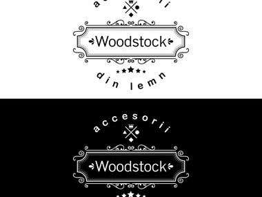Wood stock logo in black & white